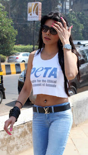 Sherlyn Chopra at PETA's safe sex for animals campaign