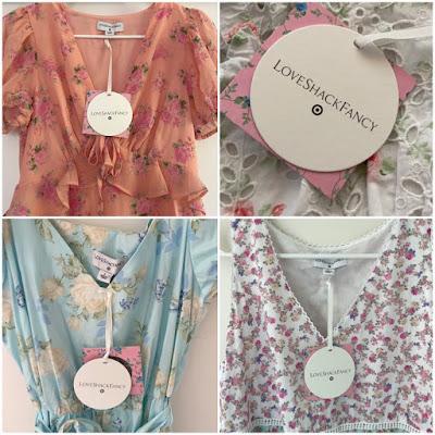 loveshackfancy x target floral dresses