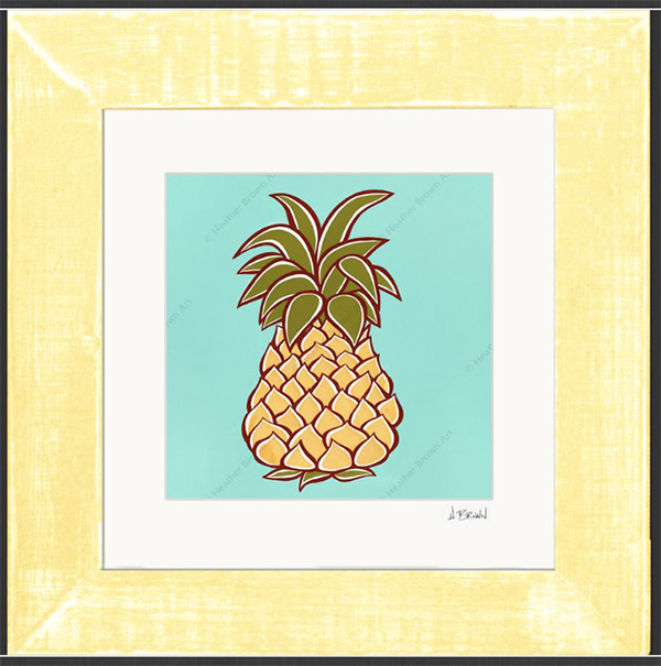 heather brown tropical beach art