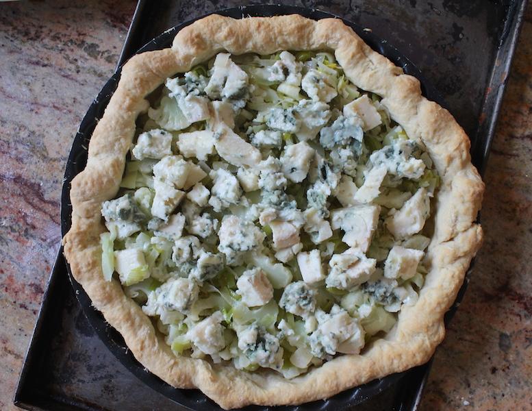 Food Lust People Love Cauliflower Leek Roquefort Tart