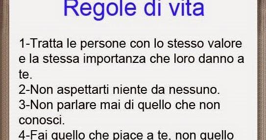 Le 6 Regole Della Vita