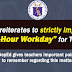 Strict Implementation of 6-Hour Workday for Teachers