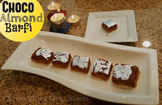 chocolate-almond-barfi