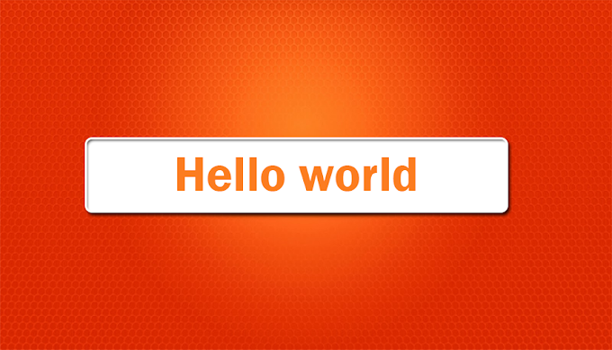 Hello world prinit javascript