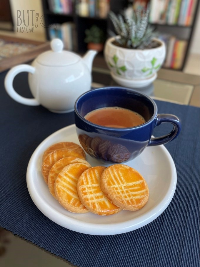 Some Galettes Bretonnes with a mug of chai