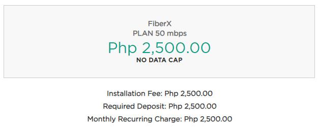 Converge FiberX Plan 50 MBPS