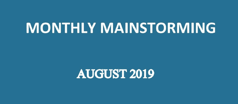 UPSC Mainstorming - August 2019