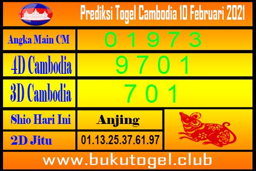Prediksi Cambodia 10 Februari 2021