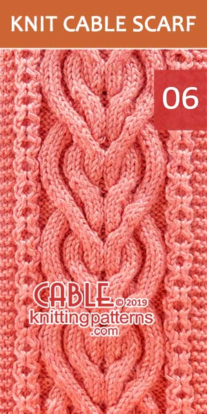 Intertwined Heart Cable Scarf Pattern. It is a difficult scarf to make, but definitely worth the effort.