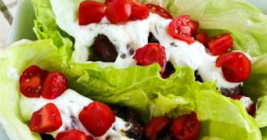 ... Ground Beef Gyro Meatball Low-Carb Lettuce Wraps with Tzatziki and