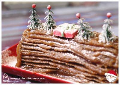 Cha la fourmie rose pour noel buches traditionnelles - Herve cuisine buche marron ...