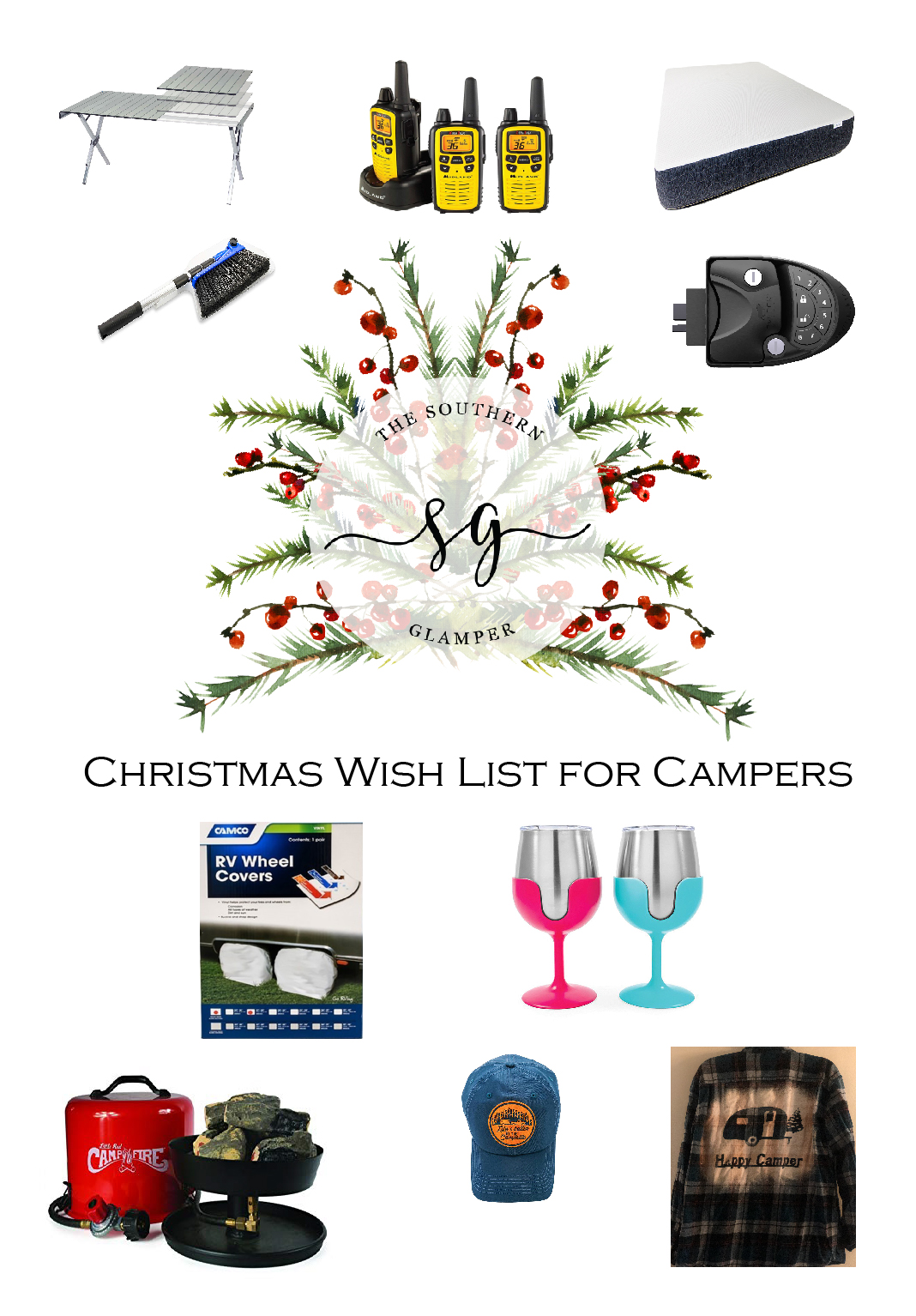 Camping gift ideas for any glamper or camper alike.