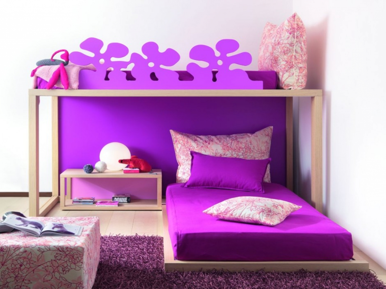 Cute bedroom for girls bahay ofw for Girls bedroom decorating ideas with bunk beds