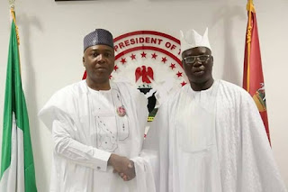 Saraki Hosts The Aare Ona Kakanfo of Yoruba Land, Chief Gani Adams