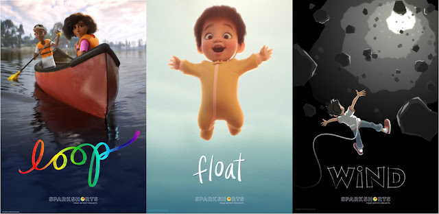 Pixar SparkShorts Loop, Float and Wind Posters