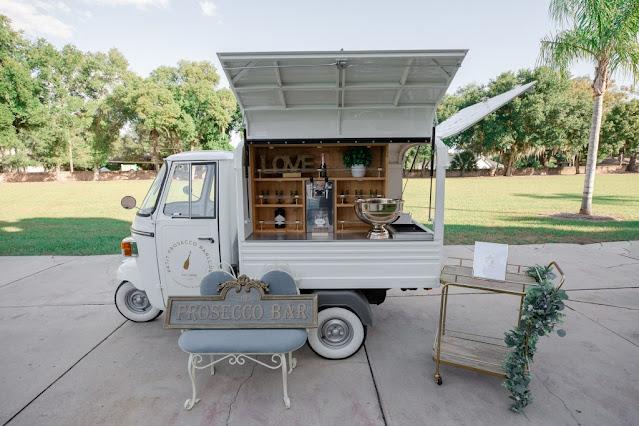 small prosecco truck and decor