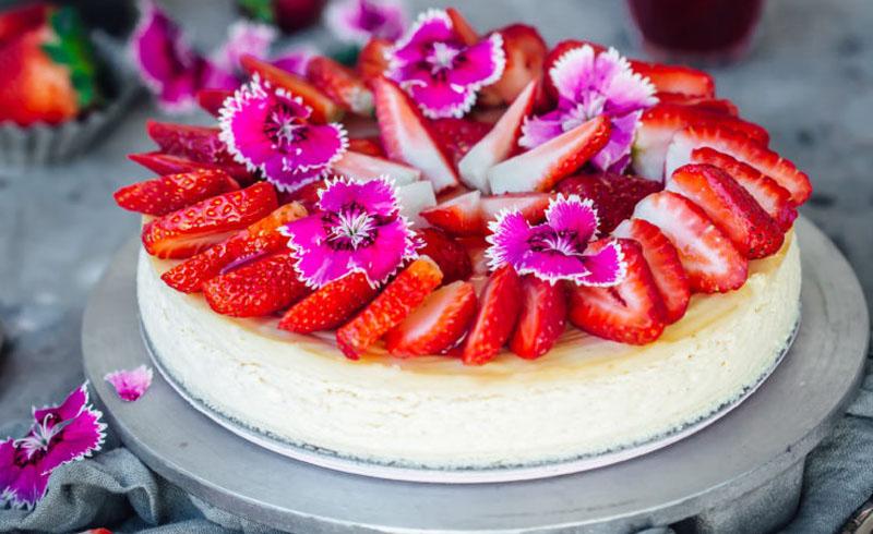 Baked Cardamom Ricotta Cheesecake