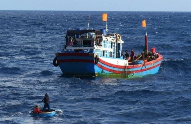 Ngư dân Quảng Ngãi rơi xuống biển mất tích