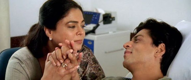Reema Lagoo With Shahrukh Khan