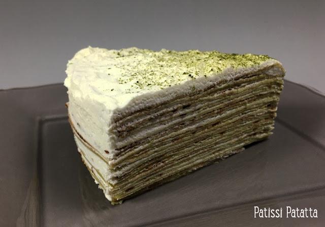 recette de gâteau de crêpes, gâteau de crêpes thé matcha et citron vert, thé matcha, citron vert, crêpes, dessert frais, vive les crêpes, dessert avec des crêpes, terriblement bon, pâtisserie, patissi-patatta