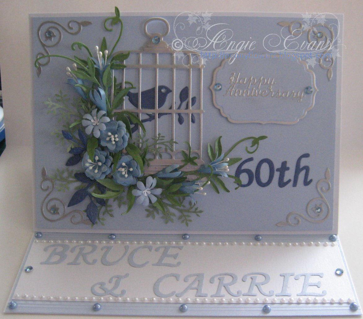 PENNY FLOWERS 60th Wedding Anniversary card