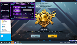 PUBG MOBILE Free SUPERMAN Bypass for GAMELOOP 4.4 and SMARTGAGA