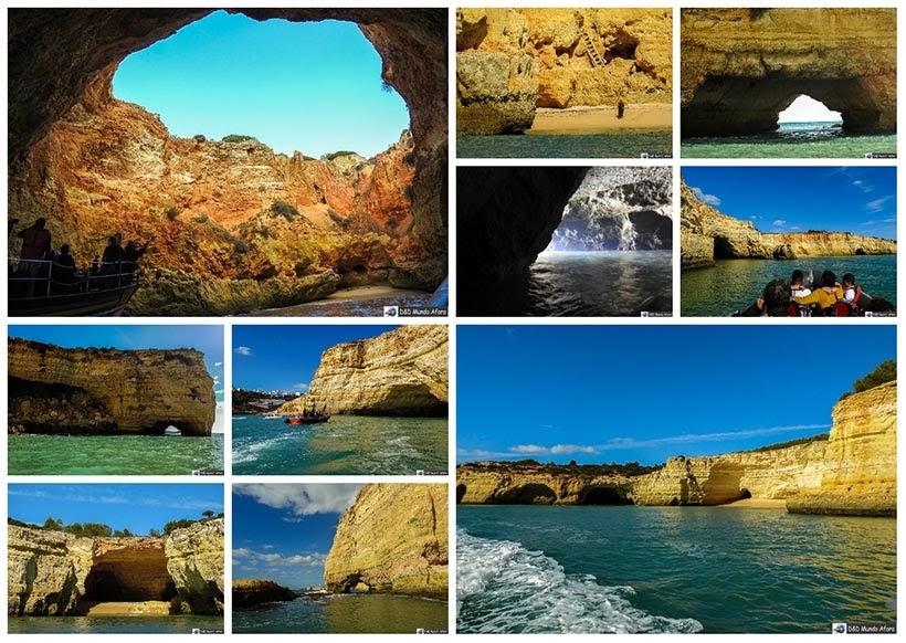 Passeio de barco no Algarve, sul de Portugal