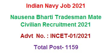 Recruitment in Indian Navy Online Application 2021