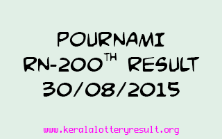 POURNAMI RN 200 Lottery Result 30-8-2015