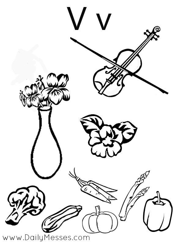 Daily Messes: V is for Velvet, Violet, and Violin