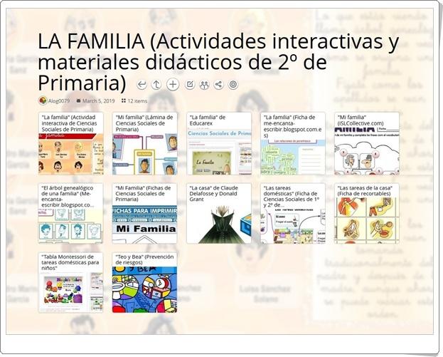 """""""12 actividades interactivas y materiales didácticos sobre LA FAMILIA en 2º de Primaria"""""""