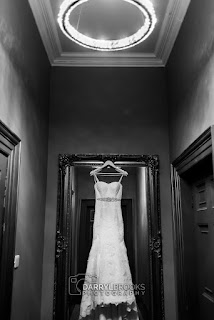 wedding dress at Rise Hall