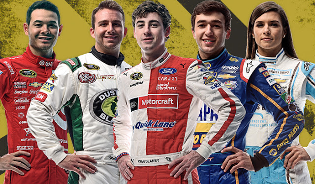 Kyle Larson, Matt DiBenedetto, Ryan Blaney, Chase Elliott and Danice Patrick are the top five leading vote getters in Sprint Fan Vote.