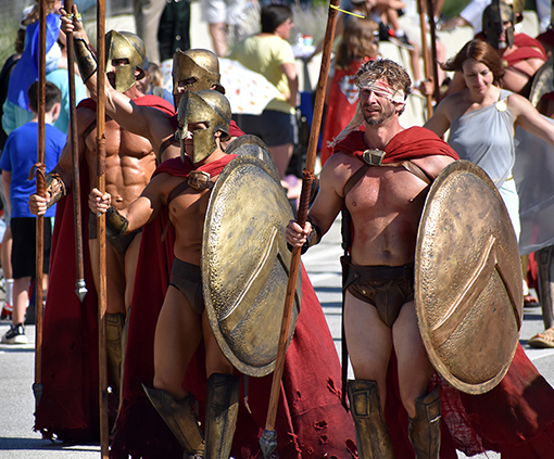 Spartans | Dragon Con Parade 2019 | Photo: Travis Swann Taylor
