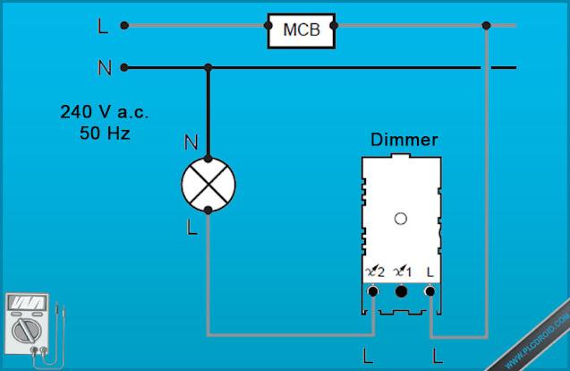 Wiring Diagram Dimmer Lampu