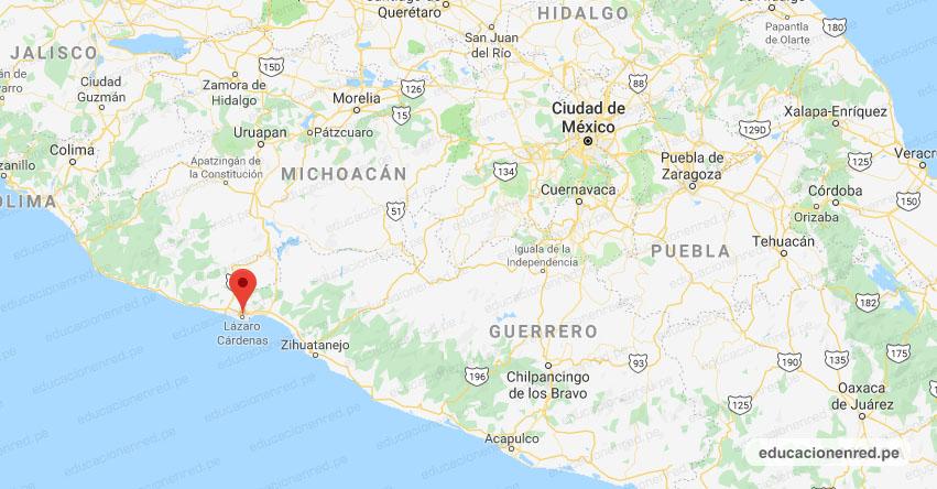 Temblor en México de Magnitud 4.3 (Hoy Martes 10 Noviembre 2020) Sismo - Epicentro - Lázaro Cárdenas - Michoacán de Ocampo - MICH. - SSN - www.ssn.unam.mx