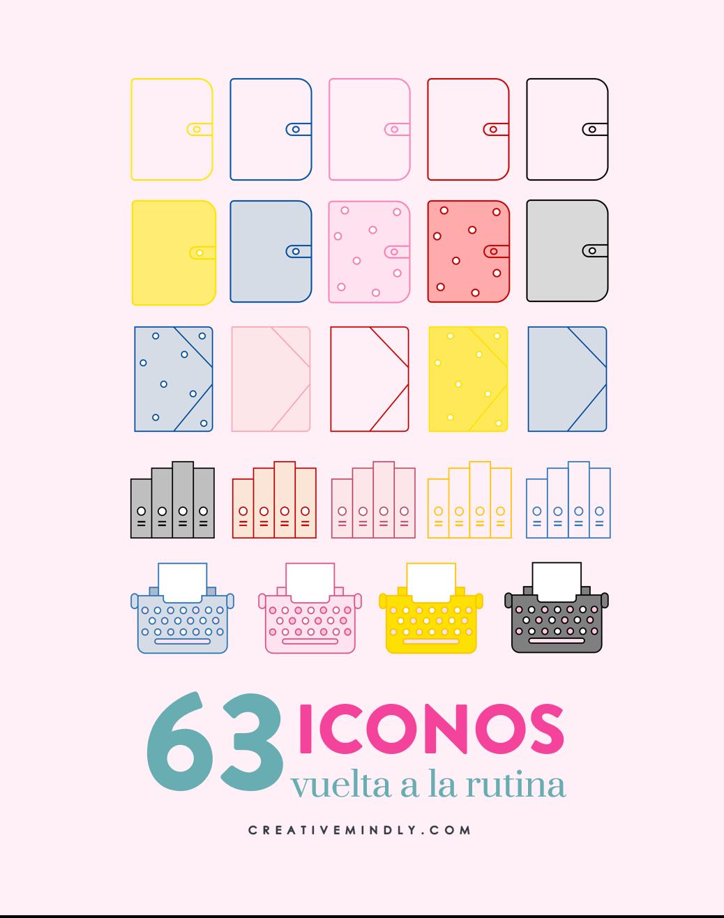 iconos bonitos organizar ordenador