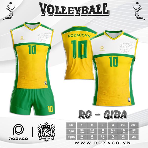 Áo Bóng Chuyền Rozaco RO-GIBA Màu Vàng
