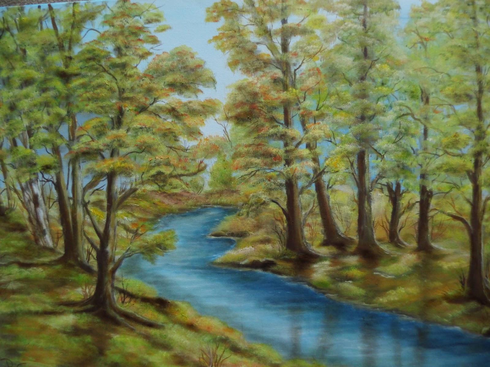 wald foto gemalt