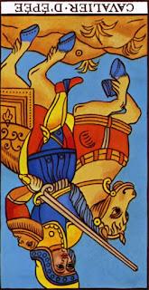 cavalier d'épée à l'envers
