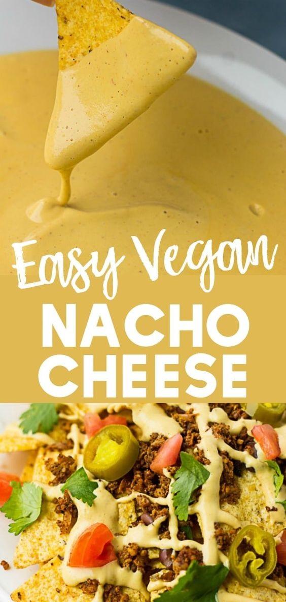 Easy Vegan Nacho Cheese Sauce