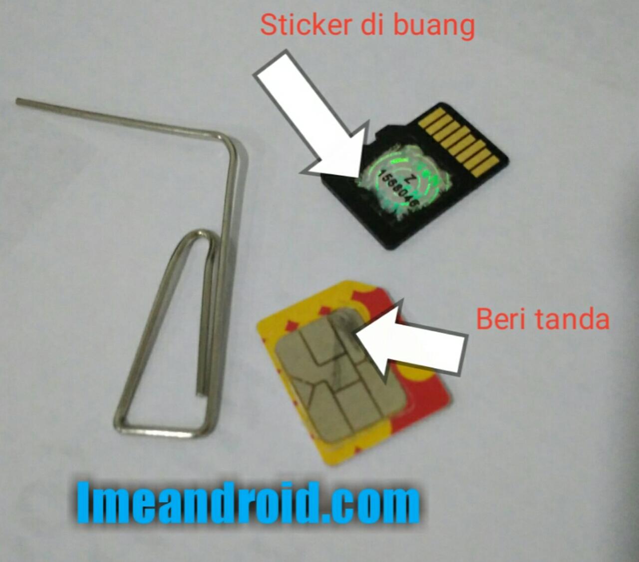 Cara memasang dual sim dan memori di hp xiaomi secara