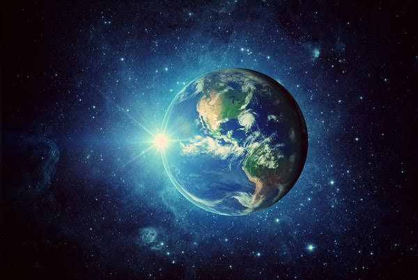 He suspends the earth over nothing. - the Bible is true!