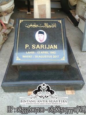 Nisan Granit, Nisan Kuburan Muslim, Batu Nisan Granit