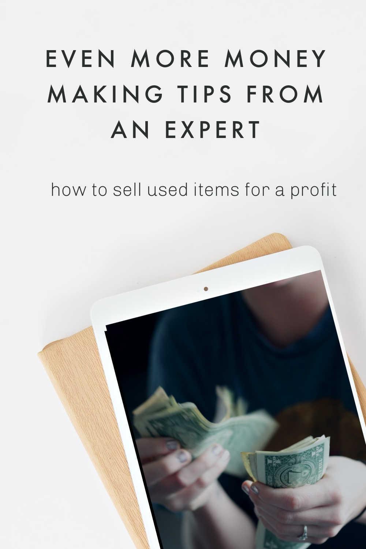 money making expert tips