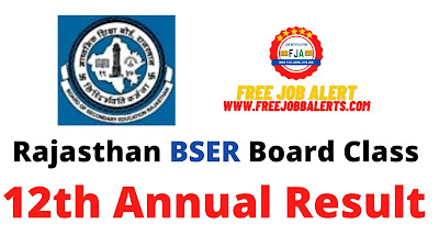 Rajasthan BSER Board Class 12th Annual Result