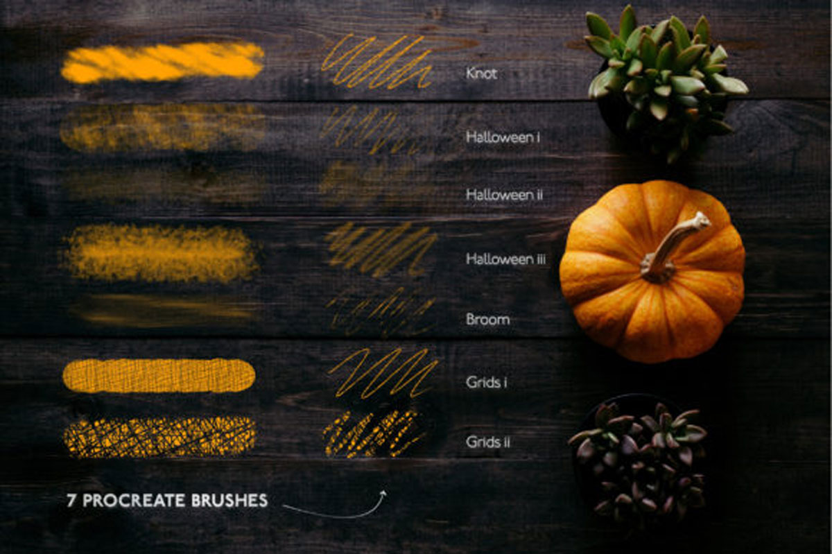 7 Halloween Procreate Brushset IPad 4645859 Free