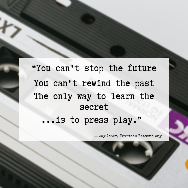 You can't stop the future  You can't rewind the past #quotes