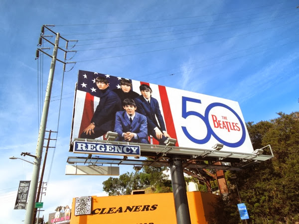 The Beatles 50 music billboard
