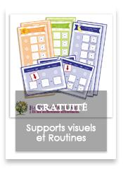 Trouble du spectre de l'autisme - Supports visuels - Routines - pictogrammes